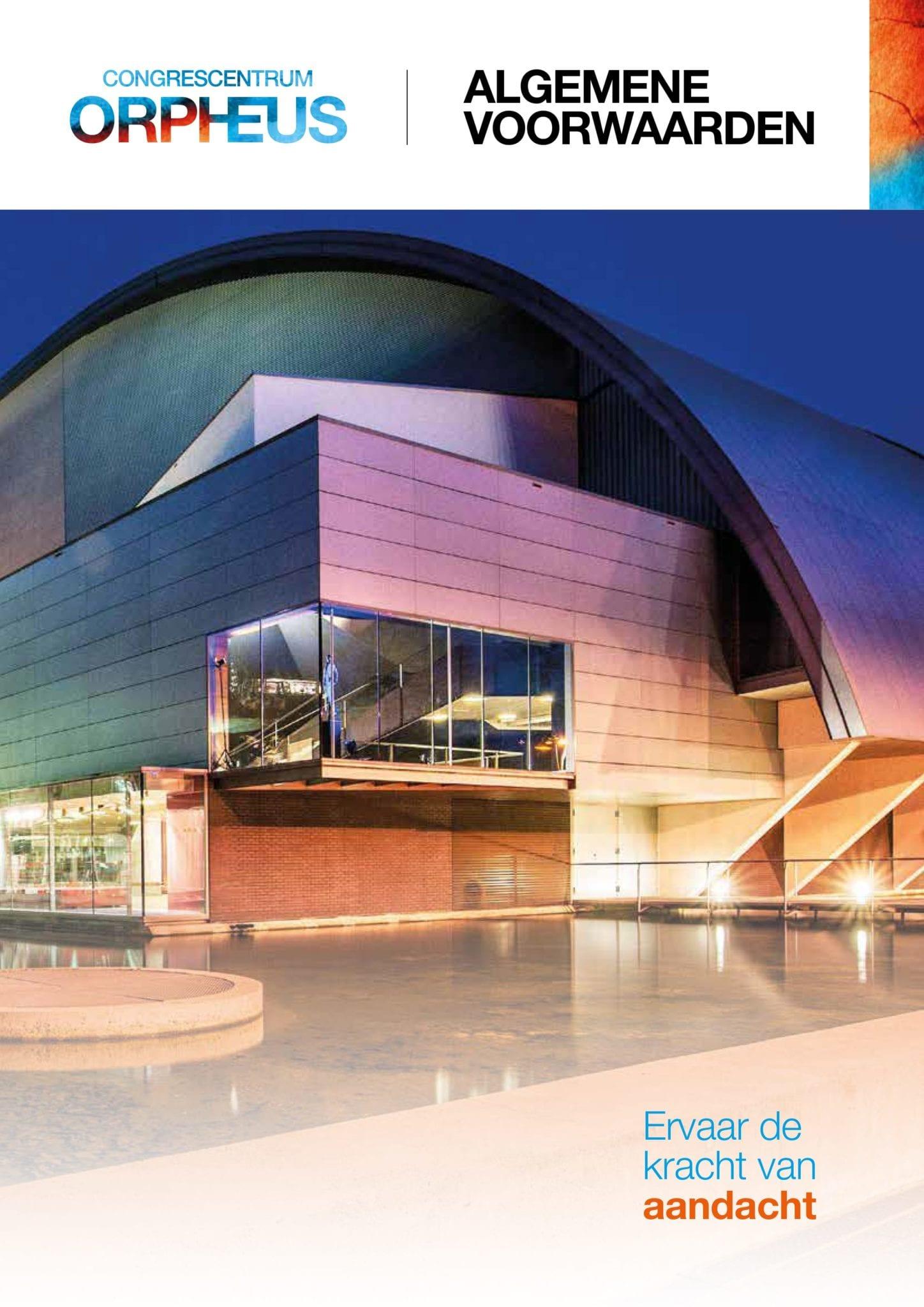 Algemene voorwaarden Theater & Congres Orpheus